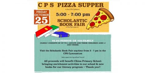 CPS Annual Pizza Supper and Scholastic Book Fair